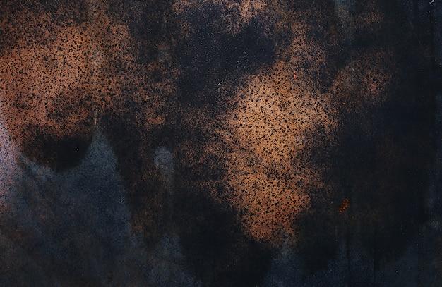 Grunge rostiger dunkler metallhintergrund