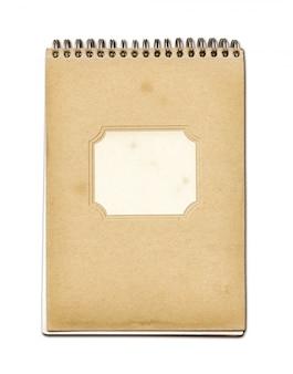 Grunge spirale schließen notebook