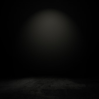 Grunge-stil innenraum mit faible licht