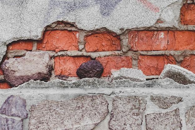 Grunge weinlesebacksteinmauerbeschaffenheitshintergrund