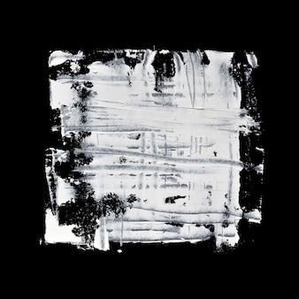 Grunge weißes quadrat auf schwarzem hintergrund