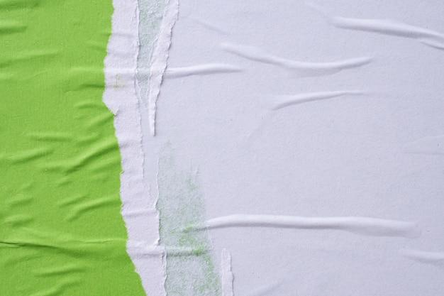 Grunge zerrissen zerrissen zerknittert und zerknittert papierplakat textur hintergrund