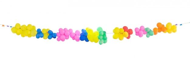 Gruppe bunte ballone für dekoration in den feiern