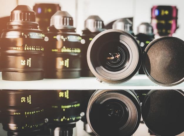 Gruppe der kinolinse für film- und rundfunkindustrie.