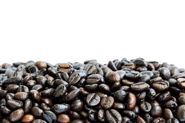 Gruppe kaffeebohnen isoliert