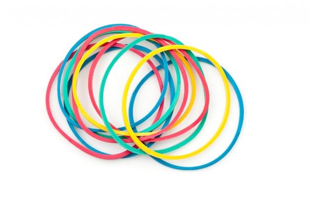 Gruppe mehrfarbige gummibänder