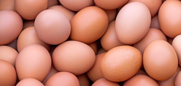 Gruppe von eiern von guter qualität