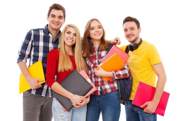 Gruppe von fröhlichen studenten