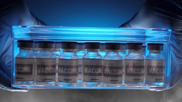 Gruppe von impfstoffflaschen