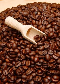 Gruppe von kaffeebohnen