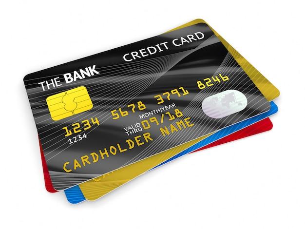 Gruppe von kreditkarten