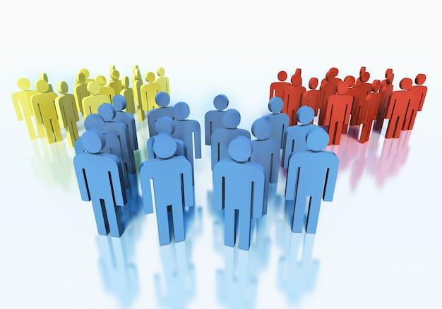 Gruppen von menschen