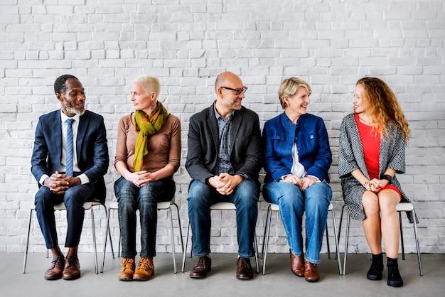 Gruppendiskussion-team talking concept