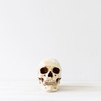 Gruseliger schädel für halloween-party