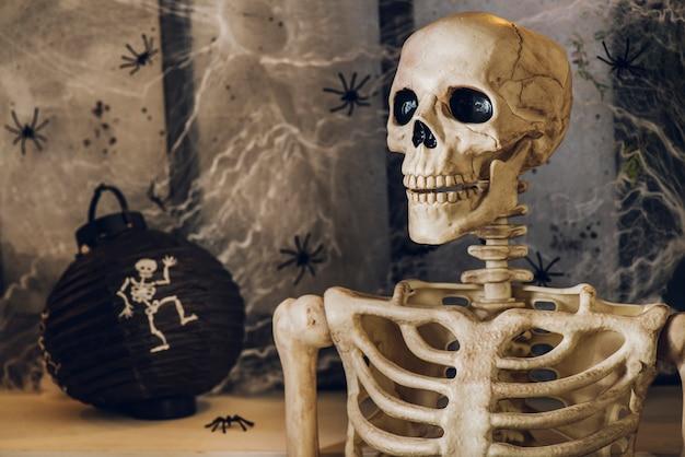 Gruseliges skelett des menschen