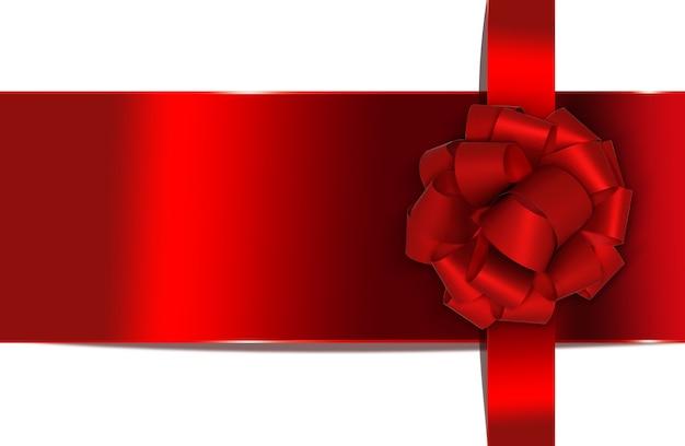 Grußkarte mit roter schleife