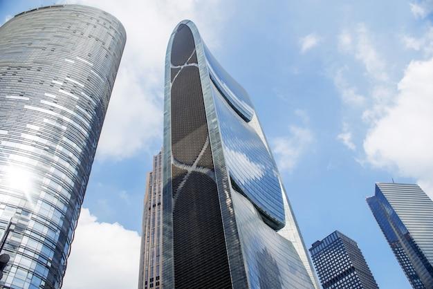 Guangzhou, china-nov.22, 2015: moderne gebäude. moderne buildin
