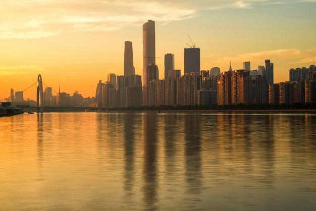 Guangzhou sonnenuntergang skyline
