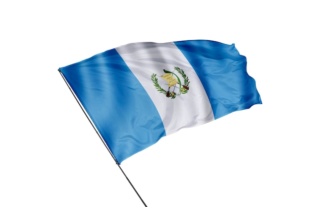 Guatemala-flagge auf weißem hintergrund