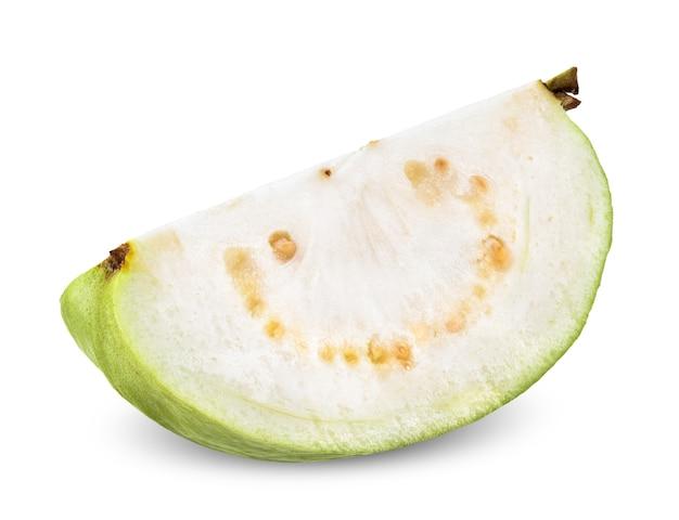 Guavenfrucht lokalisiert auf weißem beschneidungsweg