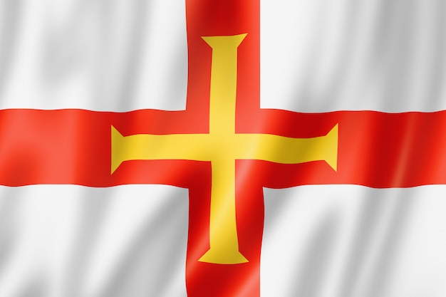 Guernsey inselflagge, großbritannien