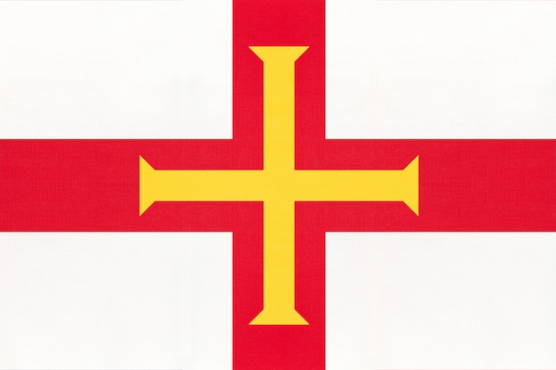 Guernsey island national fabric flagge