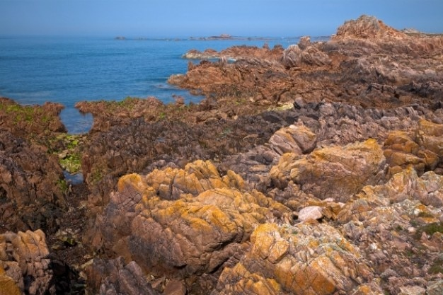 Guernsey klippen hdr