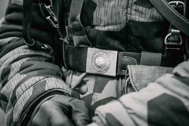 Gürtelschnallensoldat deutschlands während des zweiten weltkriegs als soldat