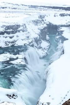 Gulfoss wasserfall island winter