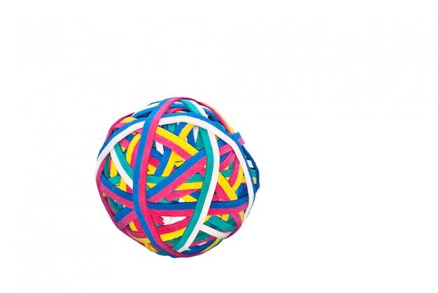 Gummiband, gummibandball lokalisiert
