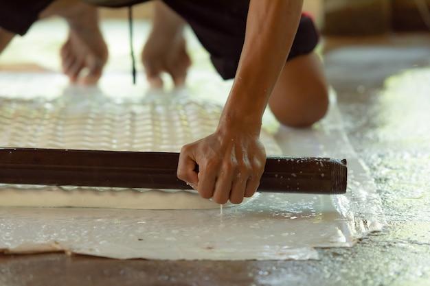 Gummiplattenherstellungsprozess