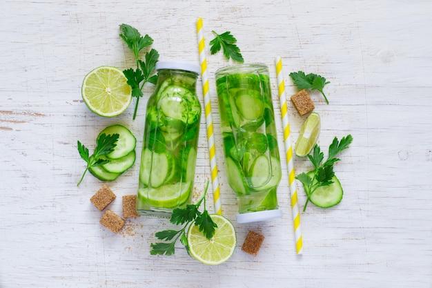 Gurken-limetten-limonade