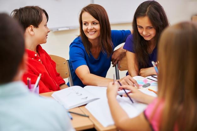 Guter lehrer bedeutet auch ein guter freund