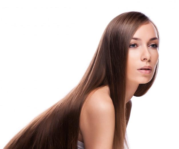 Haar. schönheits-mode-modell-frau