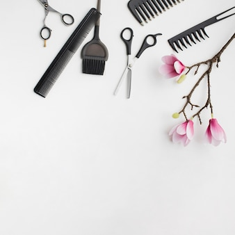 Haarhilfsmittel mit kirschblüte-blüte
