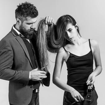 Haarvorbereitung. bartbalsam. bart styling und schnitt. ideen zu barbershop und friseursalon.