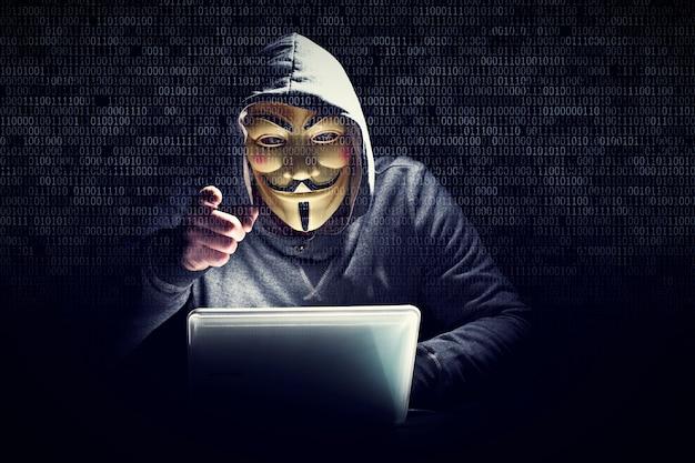 Hacker mit maske