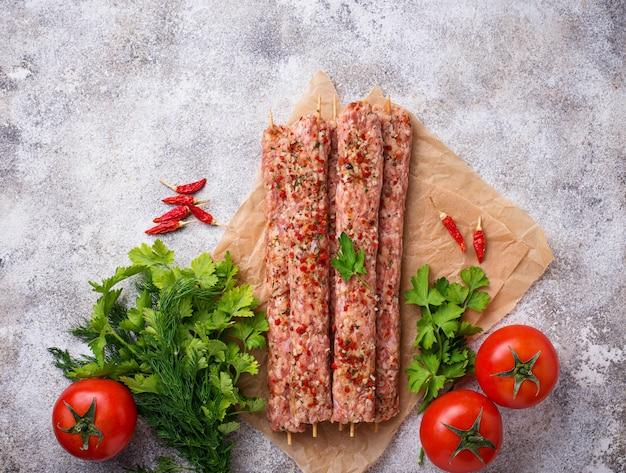Hackfleischspieße lula kebab
