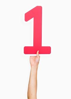 Hände halten die nummer 1
