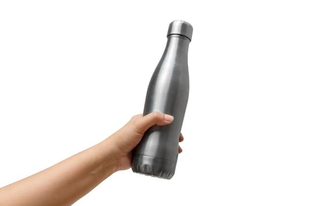 Hände halten eine flasche
