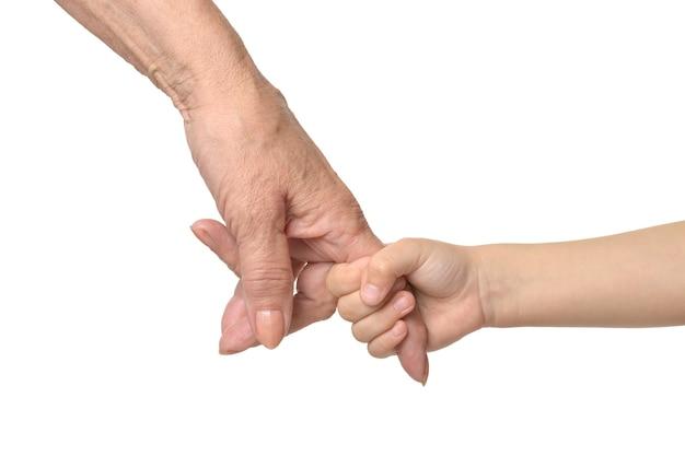 Hände zusammengehalten