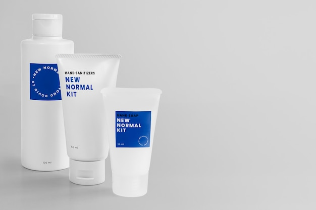 Händedesinfektionsmittel neues normales kit-produkt