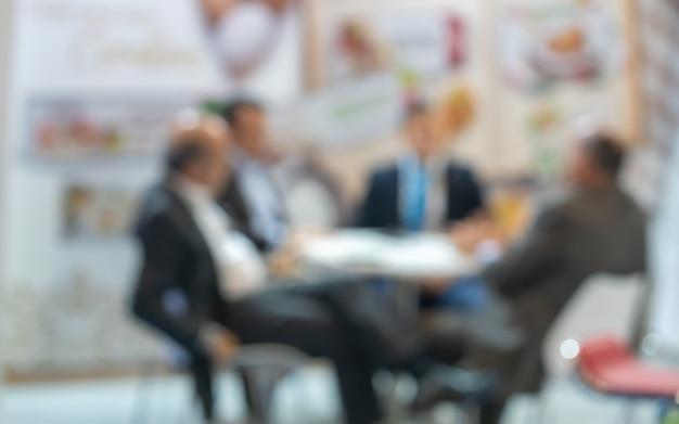 Händler auf der international business fair