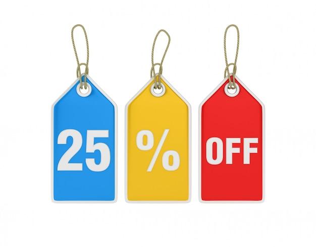 Hängender einkaufspreis 25% rabatt