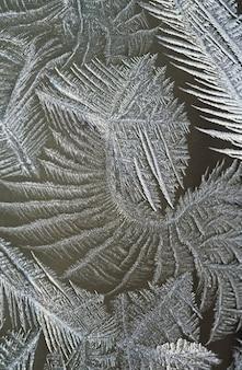 Härtesten winter eis gefroren eiskristalle fenster
