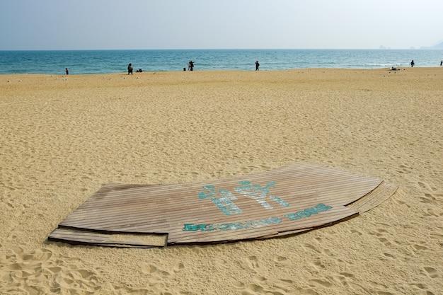 Haeundae-strandfassade in busan, korea.