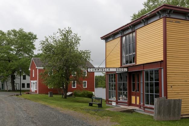 Häuser im dorf, sherbrooke, neuschottland, kanada