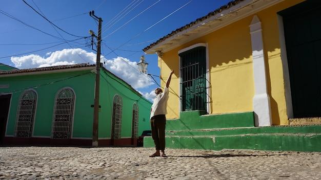 Häuser in der alten stadt, trinidad, kuba