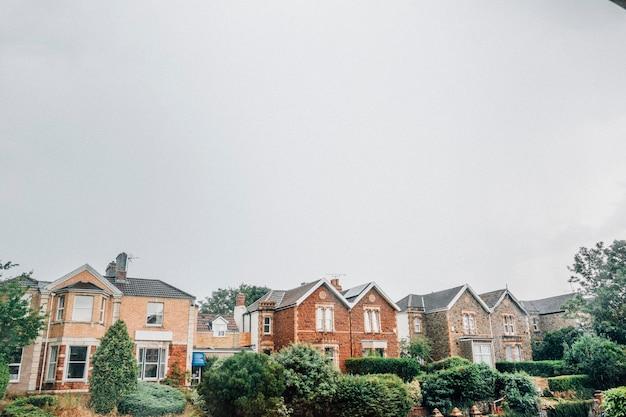 Häuserzeile in bristol, england