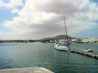Hafen in fuerteventura auf den kanarischen insel